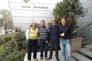 Leonardo García junto a miembros de PositronPharma